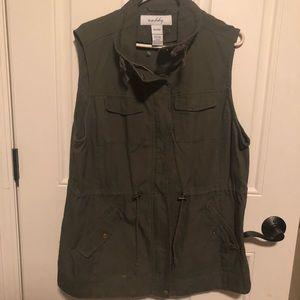 Army green utility vest plus size